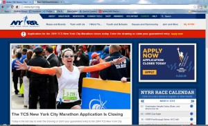 NYRR Screen Schot