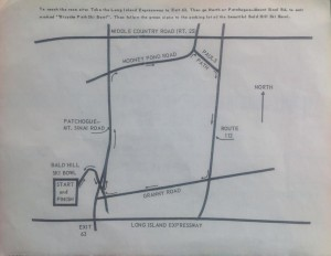Course Map of the Bald Hill Classic 10K, April 1983