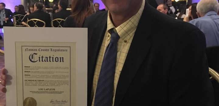 Lou LaFleur Honored with the President's Award by the Greater Long Island Running Club